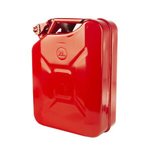Metal Jerry Can Red 20l 5 28 Gallon Capacity Meets Dot Regulations X 17722 31