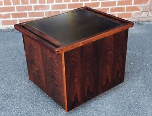 Great 1960s Rosewood Danish Modern Furniture Makers Control Pop Up Bar Cabinet