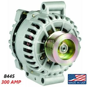300 Amp 8445 Alternator Ford E350 E450 6 0l High Output Performance New Hd Usa