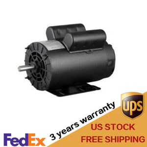 New 60 Hz 5hp Single Phase Electric Motor 208 230v 3450rpm Air Compressor Kit