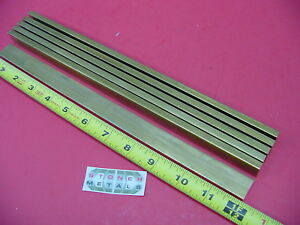 6 Pieces 1 4 X 1 C360 Brass Flat Bar 12 Long Solid Mill Stock H02 25 x 1 0