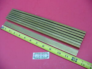 8 Pieces 1 4 X 1 C360 Brass Flat Bar 12 Long Solid Mill Stock H02 25 x 1 0