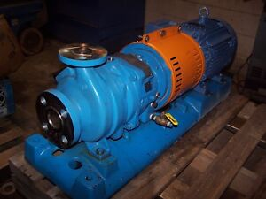 Goulds 10 Hp 316 Ss Stainless Centrifugal Pump 1x1 5 6 230 460 Vac Model 3296
