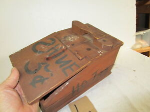 Vintage Rustic Primitive Wooden Child S Homemade Shoeshine Box Stand