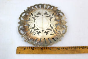 Vtg Hot Plate Trivet Pairpoint Sheffield Silver Plated Expandable Footed