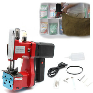 Red Portable Sewing Machine Automatic Shear Line Adjustable Pressing Force 110v