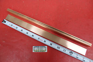4 Pieces 1 8 X 1 C110 Copper Bar 14 Long Solid Flat Mill Bus Bar Stock H02