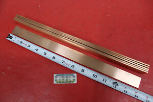 6 Pieces 1 8 X 1 C110 Copper Bar 14 Long Solid Flat Mill Bus Bar Stock H02
