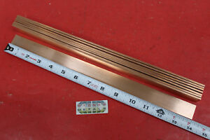 8 Pieces 1 8 X 1 C110 Copper Bar 14 Long Solid Flat Mill Bus Bar Stock H02