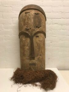 180515 Large Old Tribal Used African Mask From The Fang Gabon