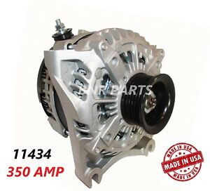 350 Amp 11434 Alternator Ford E Super Duty High Output Performance Usa New Hd
