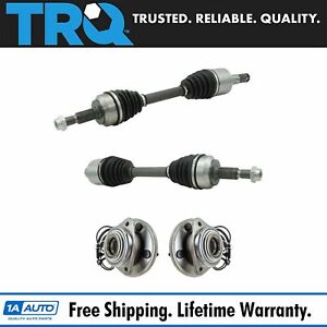 Trq Front Cv Axle Shafts Wheel Hub Bearing Assemblies Set Of 4 For Jeep