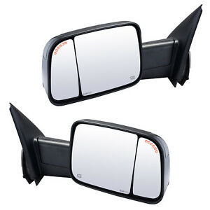 Towing Mirrors For 2002 2008 Dodge Ram 1500 Power Heated Led Smoked Signal Arrow