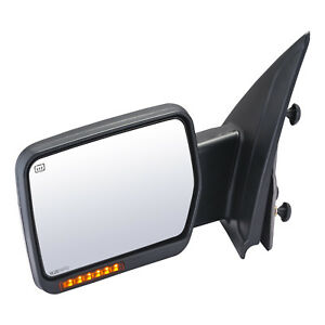 Towing Mirror For 2007 2014 Ford F 150 Driver Left Side Power Heated Signal