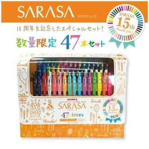 Zebra Gel Ball Pen Sarasa Clip 15th Anniversary Limited Set 47 Colors Jj15 47