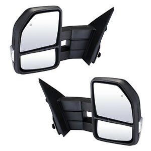 Pair Towing Mirrors For 2007 2014 Ford F150 Power Heated Signal Puddle Light L