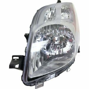 Halogen Headlight For 2007 2008 Toyota Yaris Hatchback Left