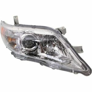 Halogen Headlight For 2010 2011 Toyota Camry Xle Model Right W Bulb S