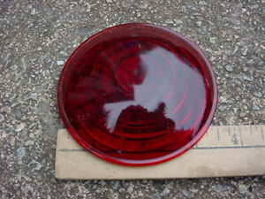 30s 40s 50s Maybe Red Glass Clearance Stop Tail Marker Lamp Lens 323