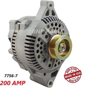 200 Amp 7756 7 Alternator Ford Taurus Mercury Sable 3 0l New High Performance Hd