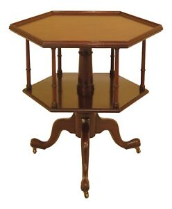 30525ec Kittinger Cw 161 Colonial Williamsburg Mahogany Revolving Table