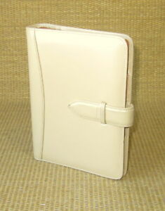 Compact 1 Rings Tan Flex Leather Franklin Covey Open Planner binder