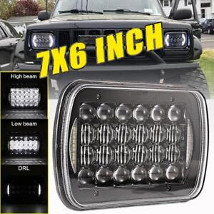 240w 7x6 Cree Led Headlight Halo Drl For Jeep Wrangler Yj Cherokee Xj Chevrolet