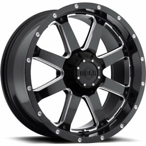20x10 Black Gear Alloy Big Block 5x5 5 5x150 19 Wheels Mud Gripper 32 Tires