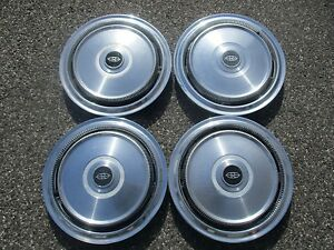 Factory 1972 1973 Buick Riviera 15 Inch Hubcaps Wheel Covers Set