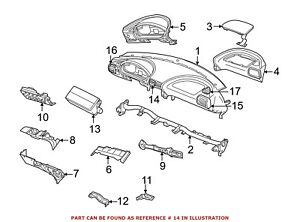 For Bmw Genuine Dashboard Air Vent 64228397713