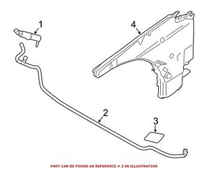 For Bmw Genuine Headlight Washer Hose Front 61677349432