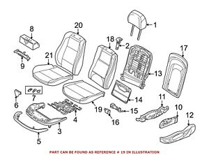 For Bmw Genuine Seat Cushion Foam Front 52108099306