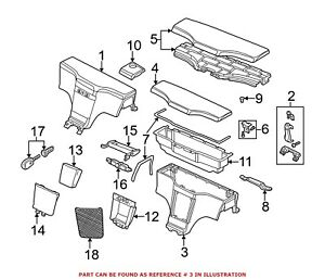 For Bmw Genuine Center Console Rear 51168399086