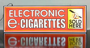 Business Led Lighted Box Sign Electronic E Cigarettes Sold Here red