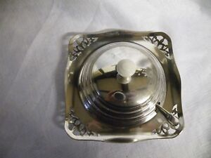 Vintage Silver Plated Butter Dish With Spreader Liner