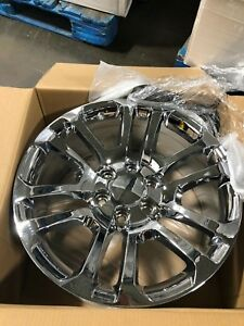 4 New Gmc Accessory Chrome Wheels Oe 22 22x9 Gmc Yukon Chevy Silverado Tahoe