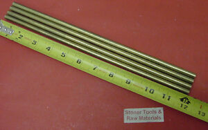 4 Pieces 1 4 C360 Brass Solid Round Rod 12 Long H02 Lathe Bar Stock 25