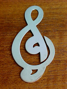 Charming Vintage Tiffany Bookmark Sterling Silver Treble Clef Musical Music
