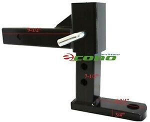 3 Step Adjustable Tow Bar Raised Trailer Hitch 3 Levels Of Raise 4 1 2 7 1 2