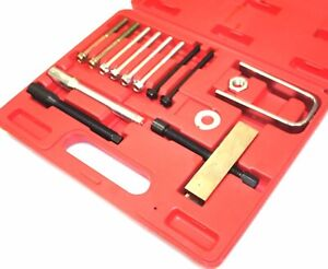 Steering Wheel Puller Lock Plate Compressor Set Mechanic Installer Remover Kit
