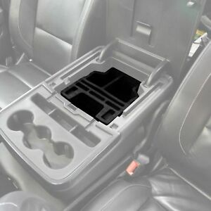 Fits Silverado 2015 18 Center Console Black Organizer Insert Set Fold Down Only