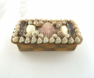 Victorian Sailor S Seashell Box Valentine Hand Made Sewing Trinket Shell Art