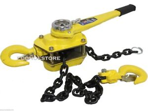 Come Along Puller 3 Ton 5 Ft Ratcheting Lever Block Chain Hoist Pulley