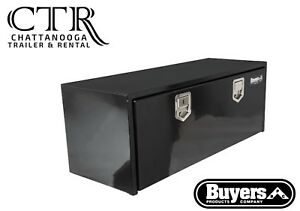 Buyers Products 1702115 18x18x60 Inch Black Steel Underbody Truck Box W paddle