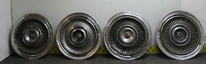 Oem Chrysler Set Of 4 15 Hub Caps Wheel Covers W Bird 1967 68 69 Imperial 677