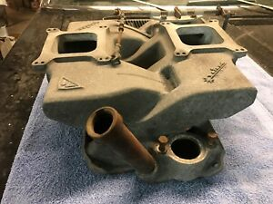 Chevy Cross Ram Vintage Wieand Intake Manifold Small Block 283 327 350 Rat Rod