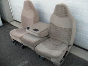 New Take Out Seat Ford Super Duty F250 F350 Tan Cloth Power Front 40 20 40
