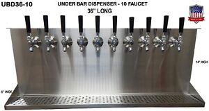 Under Bar Dispenser 10 Faucets Glycol Ready s Steel Draft Beer Tower ubd36 10g