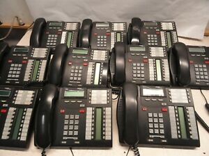 Lot Of 10 Nortel Networks T7316 Business Phone System Telephones Charcoal Nt8b27