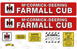 1949 Farmall Cub Tractor Replacement Decal Kit